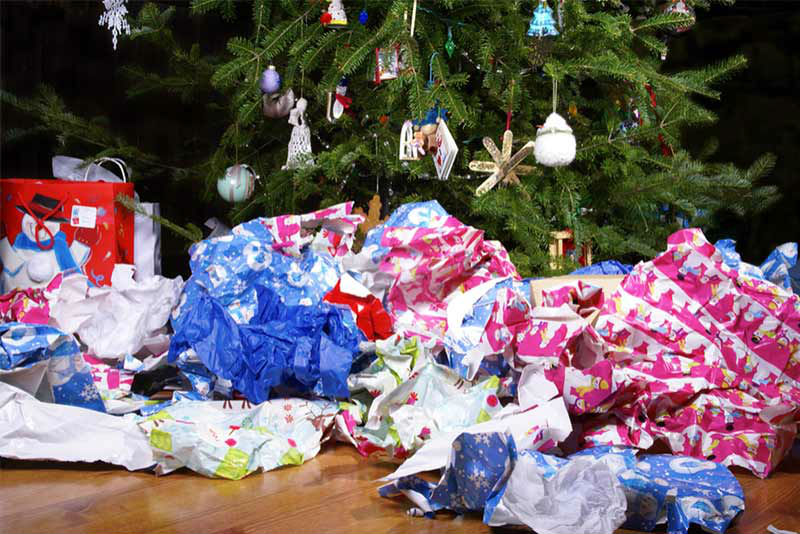 How much waste does the festive season create?