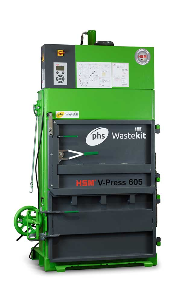 phs wastekit 605 eco vertical baler